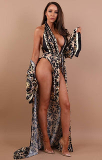 Black-scarf-print-swimwear-set