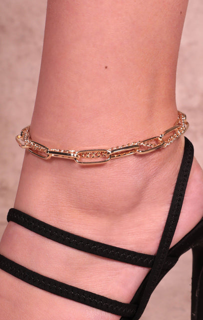 Gold Chain Link Anklet - Maine