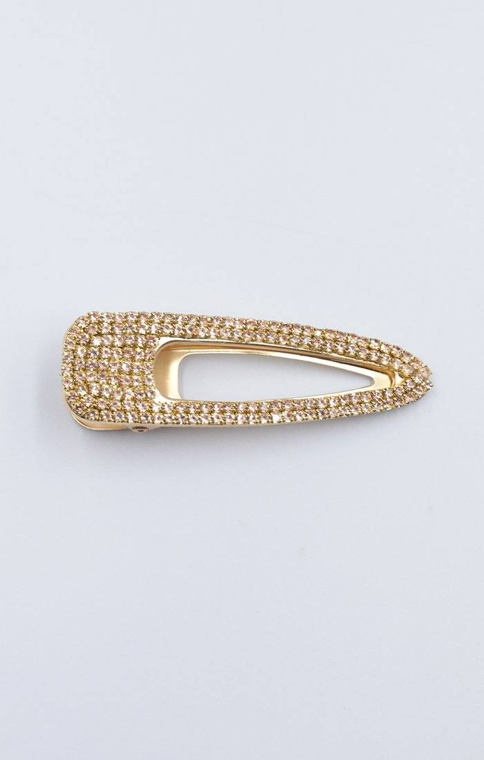 Gold Diamante Detail Hair Clip - Kelly