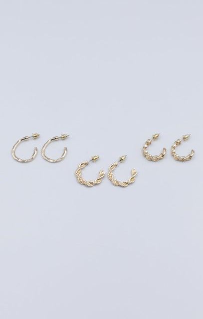 Gold Multipack Mini Hoop Earrings - Mika