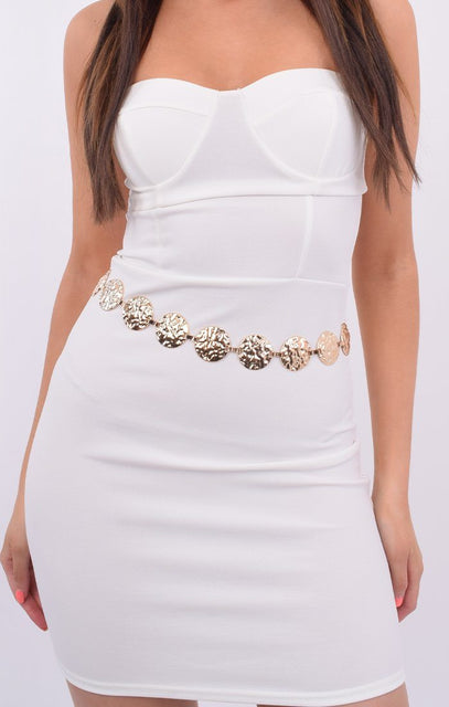 Gold Pendant Link Chain Belt - Diana