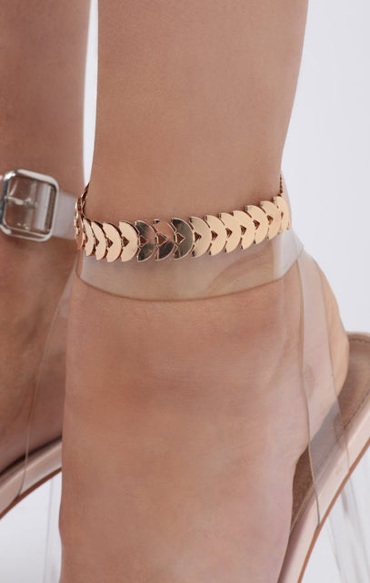 Gold Semi Circle Anklet - Journey