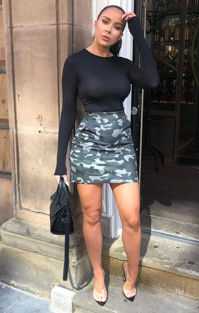 Green Camo Mini Skirt - Zahra
