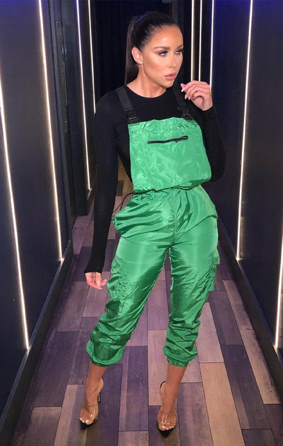Green Shell Suit Dungarees - Lizbeth