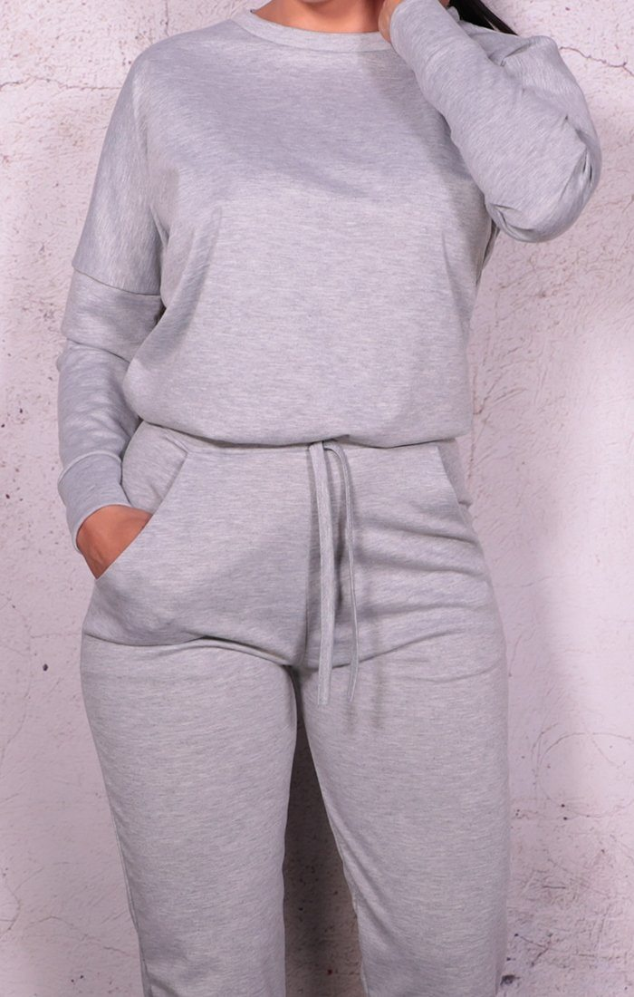 Grey Long Sleeve Loungewear Set - Dua