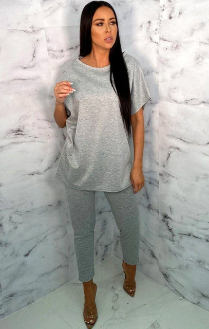 Grey Oversized Leggings Loungewear Set - Justine