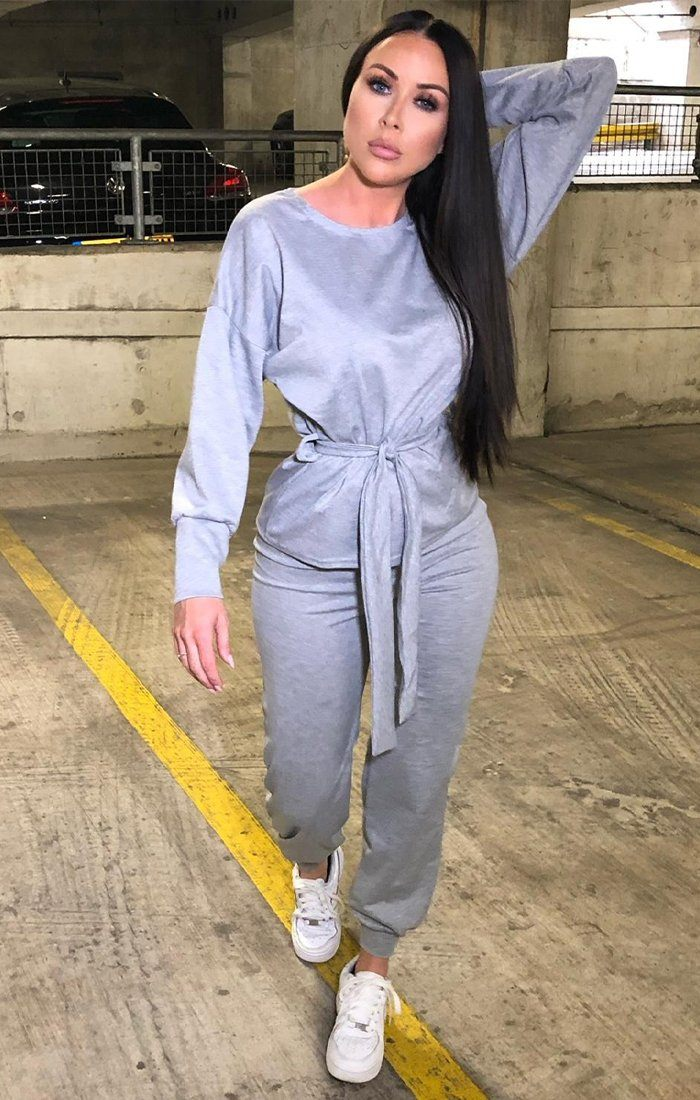 Grey Oversized Loungewear Set - Jordyn