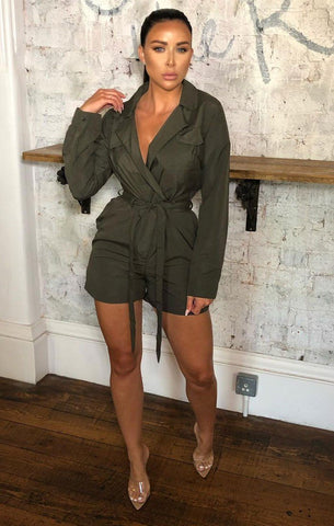 Belted Blazer Playsuits