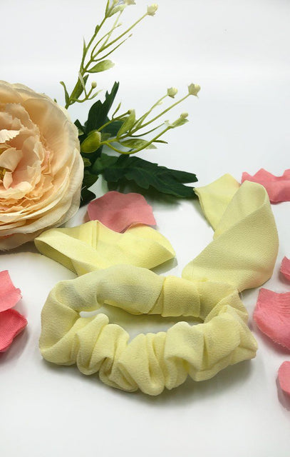 Lemon Tie Hair Scrunchie - Alioli