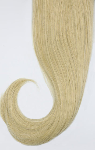 "Light Golden Blonde Thick 20"" Synthetic Drawstring And Clip Straight Ponytail - Koko"