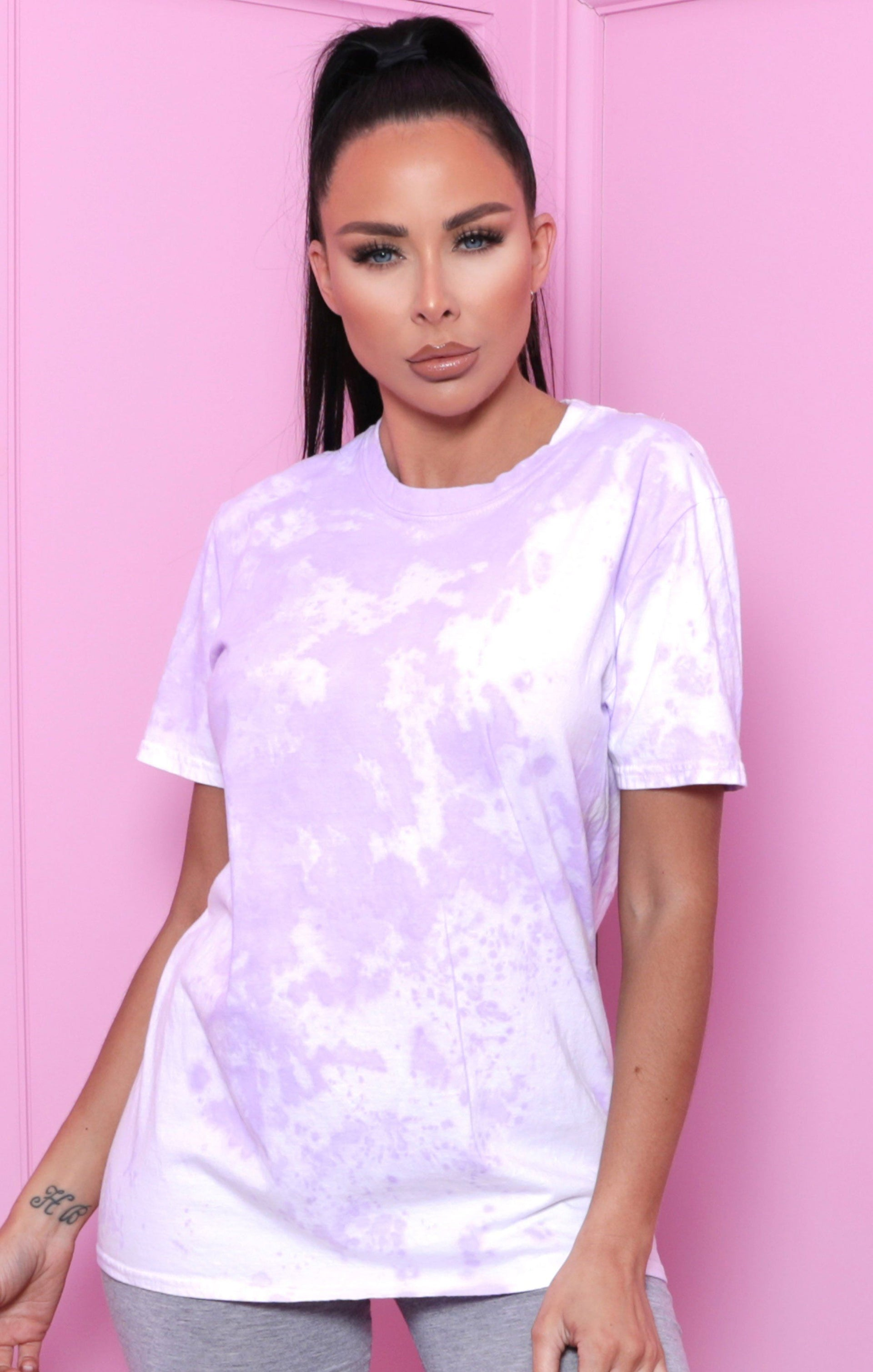 Lilac Tie Dye Oversized T-Shirt - Veda