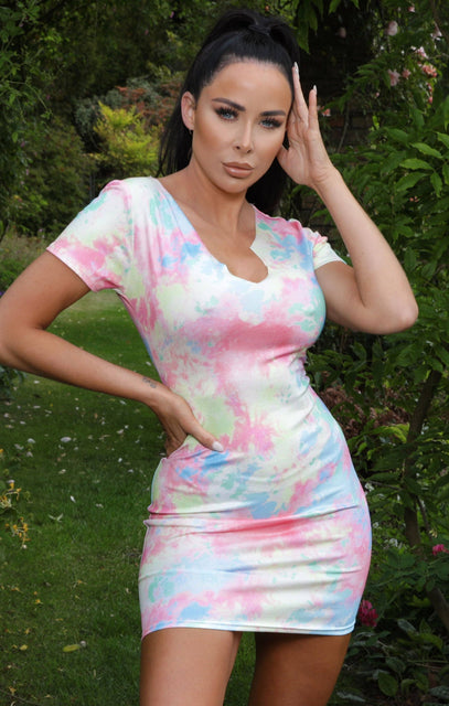 Lime Tie Dye T-Shirt Dress - Peyton NO PRICE DONT PUT LIVE