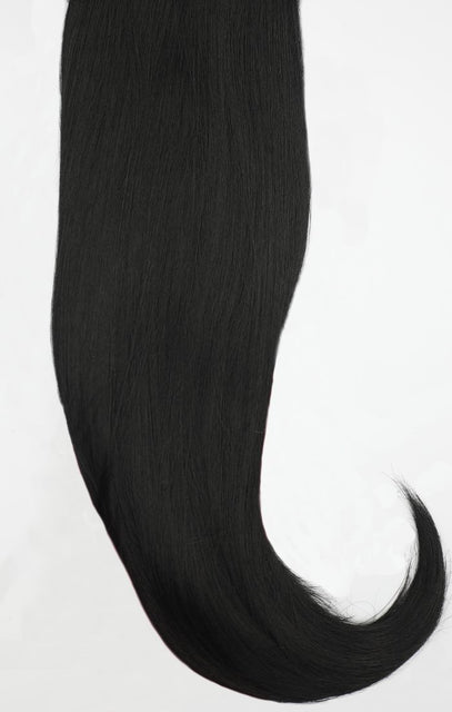 "Natural Black 24"" Synthetic Straight Hair Extensions Clip In Piece - Auora"