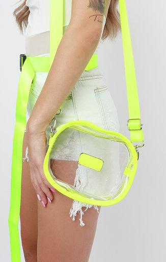Neon Green Clear Shoulder Bag - Misha
