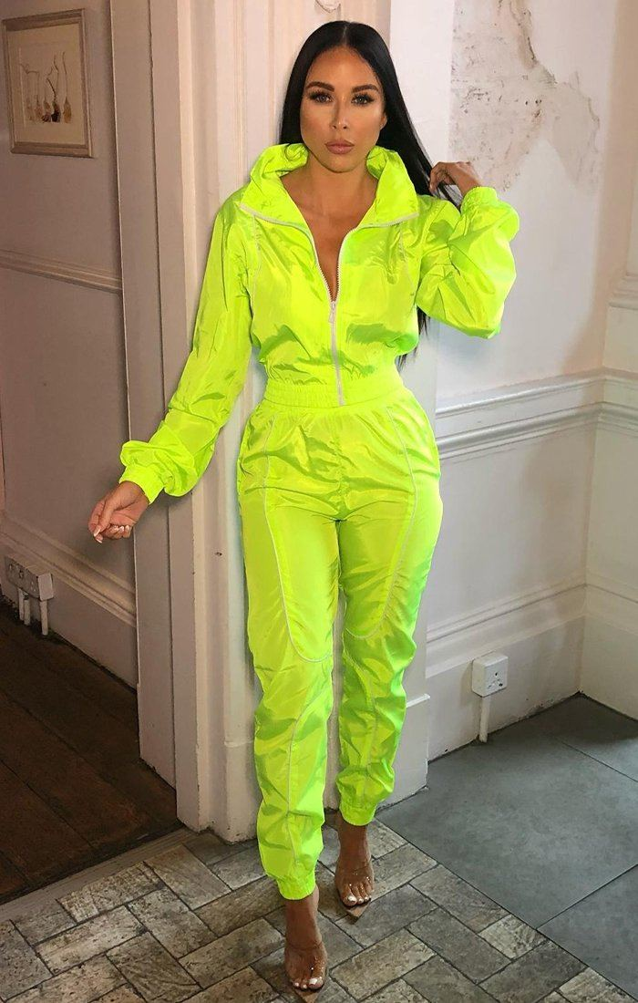 Neon Lime Shell Suit Co-Ord - Victoria