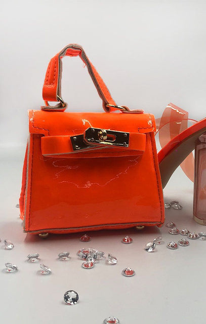 Neon Orange Micro Mini Bag - Laura