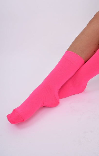 Neon Pink Socks - Thora