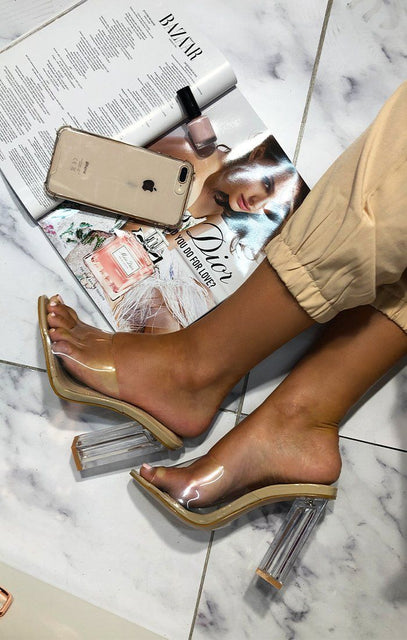 Nude Clear Mules - Robin