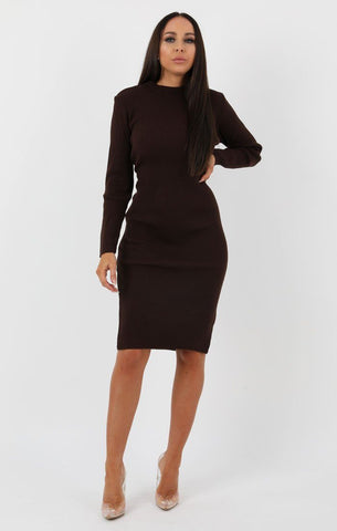 Brown Knitted Dresses