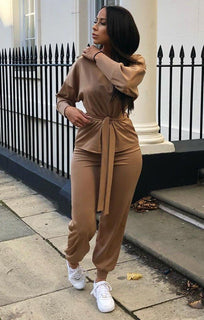Camel-Boxy-Long-Sleeved-Tie-Loungewear-Set-Leah