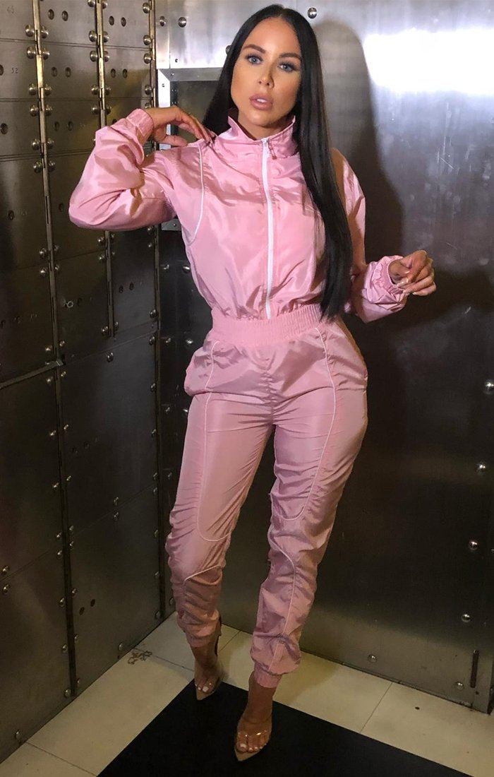 Pink Shell Suit Co-Ord - Victoria