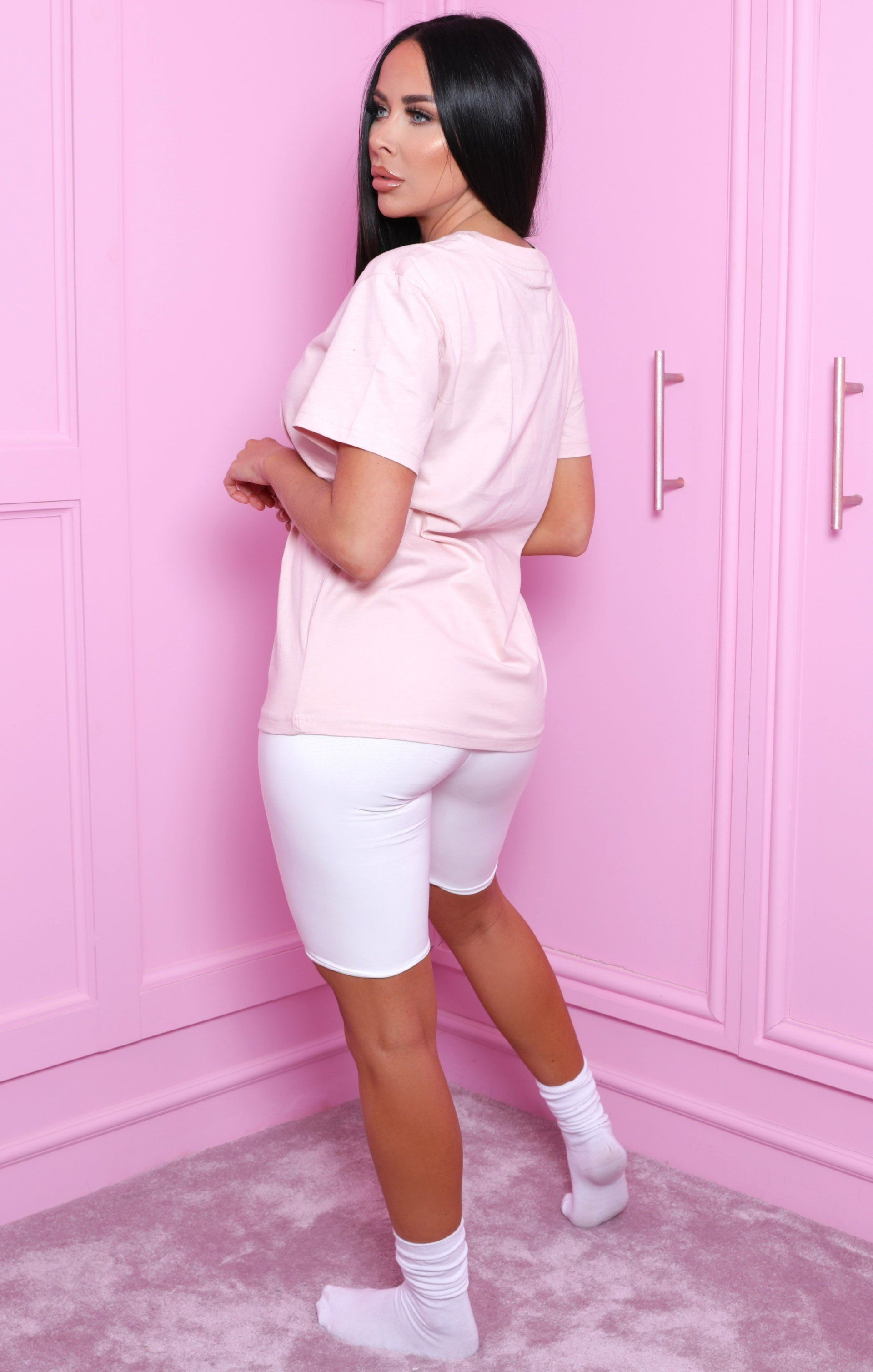 Pink Oversized Short Sleeve T-Shirt - Madayln