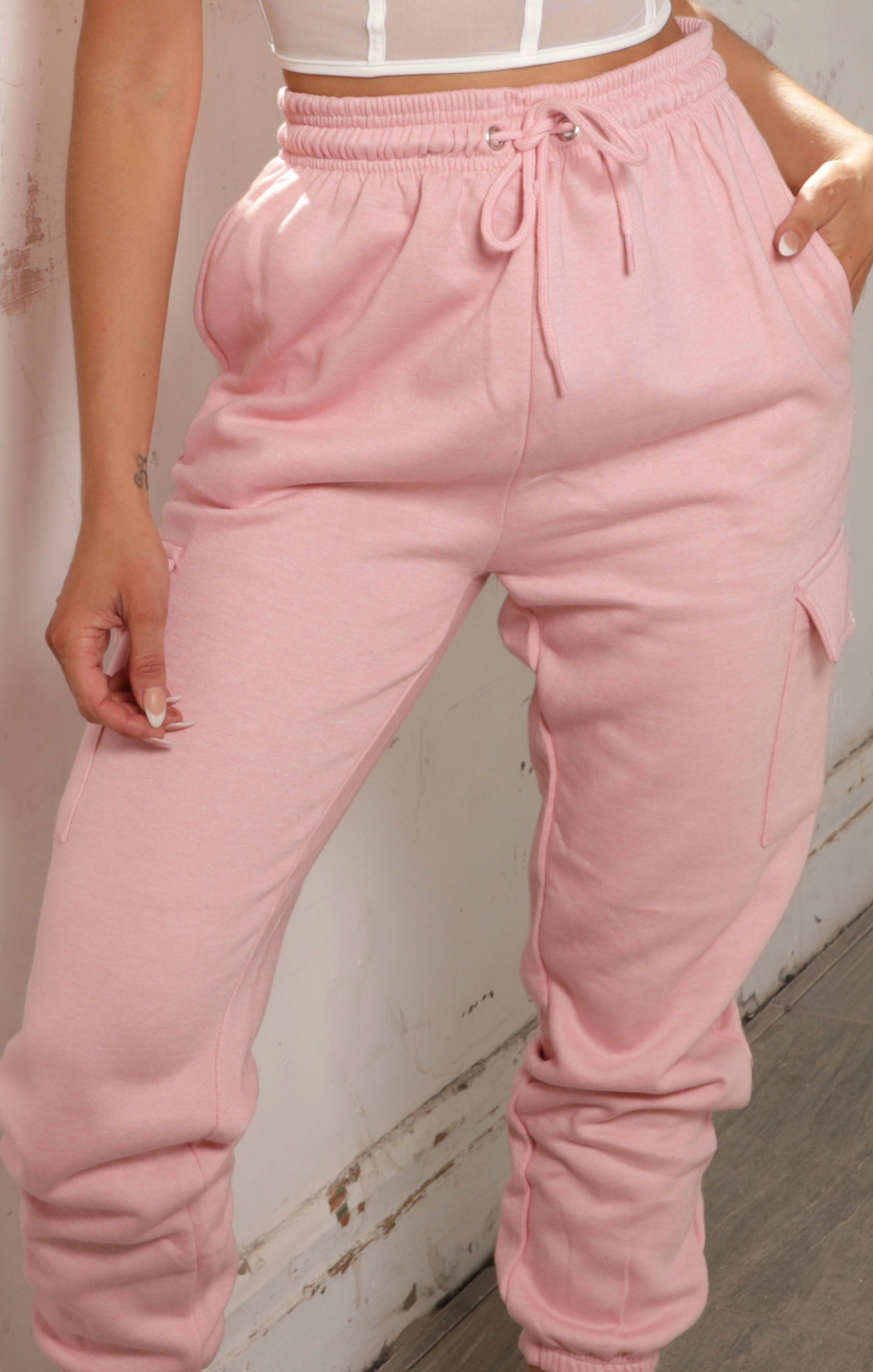 Pink Utility Pocket Joggers - Patty