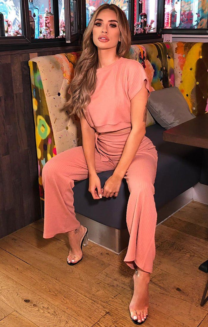 Pink Wide Leg Loungewear Set - Calla