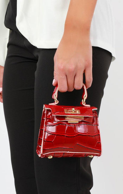 Red Croc Mini Bag - Laura
