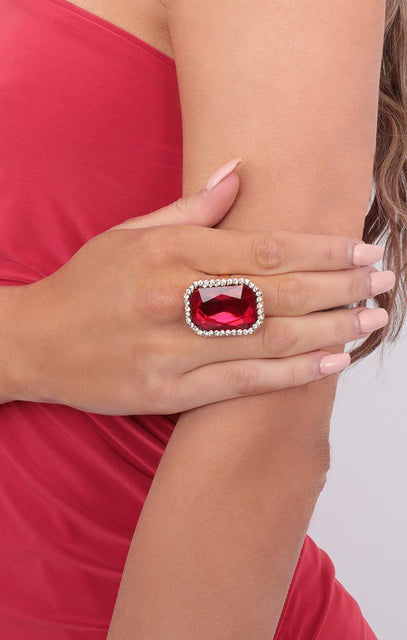 Red Ruby Gem Ring - Amari