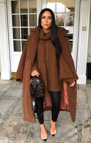 Brown Teddy Coats