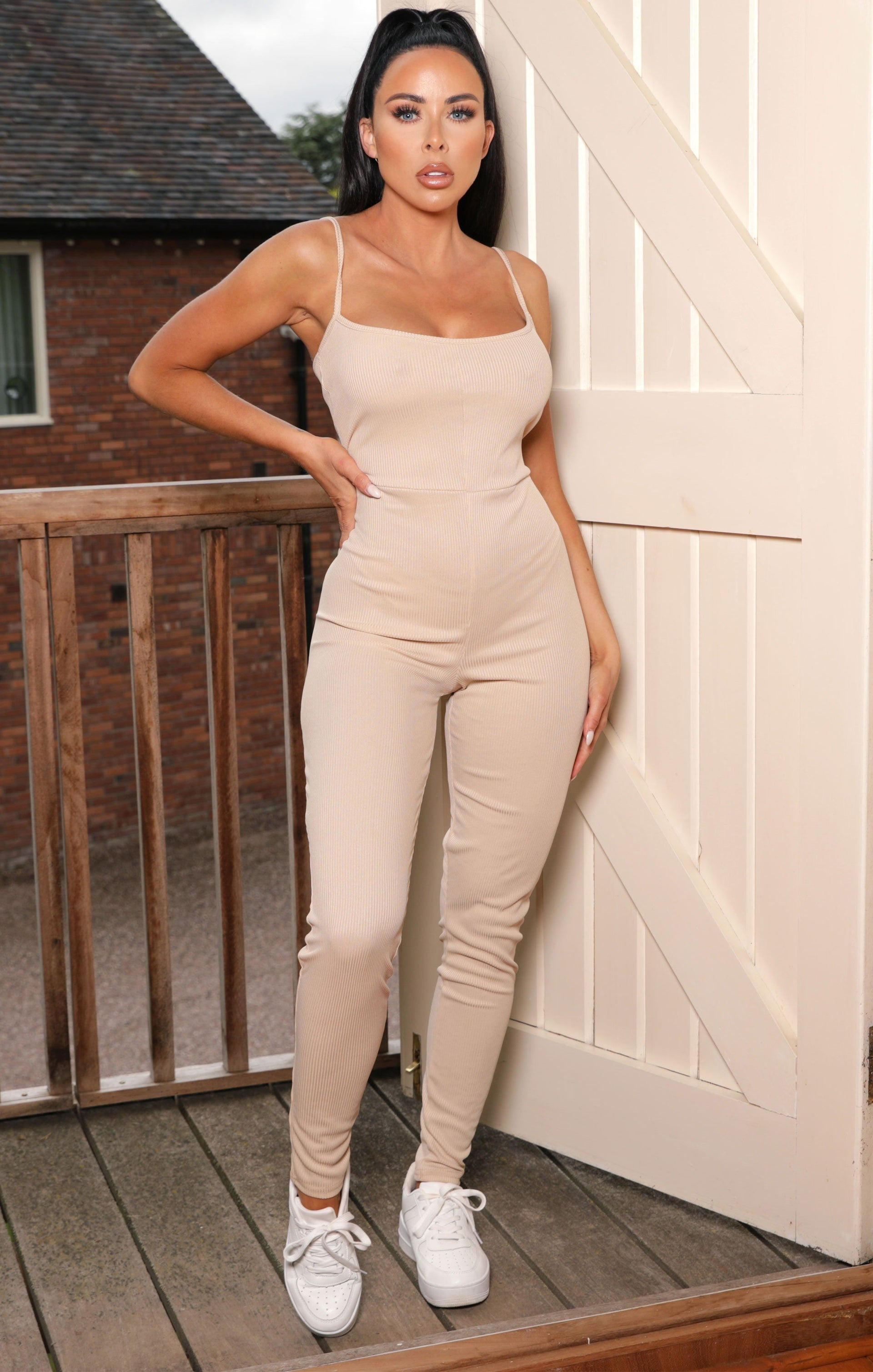 Sand Rib Scoop Neck Jumpsuit - Melina NO PRICE DO NOT PUT LIVE