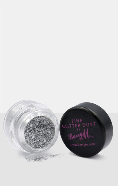 Silver Barry M Fine Glitter Dust Loose Pigment