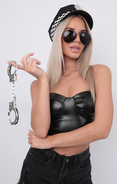 Silver Fancy Dress Handcuffs - Clarice