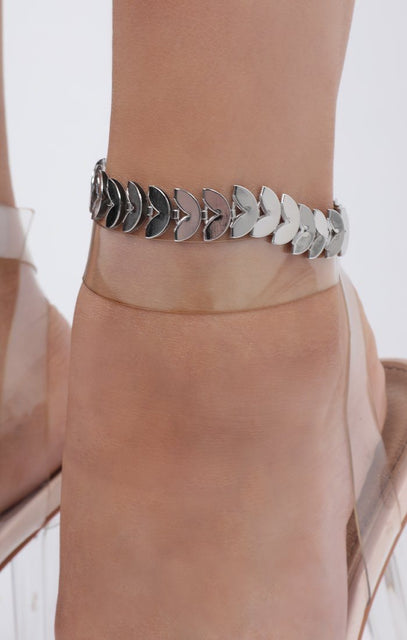 Silver Semi Circle Anklet - Journey