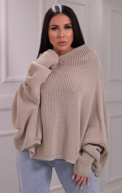 Stone Knitted OVersized Jumper - Brea