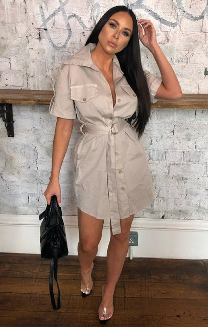 Stone Safari Shirt Dress - Rhys