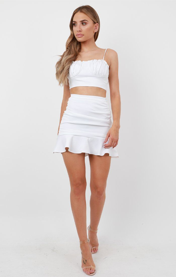 White Ruched Co-Ord - Viv