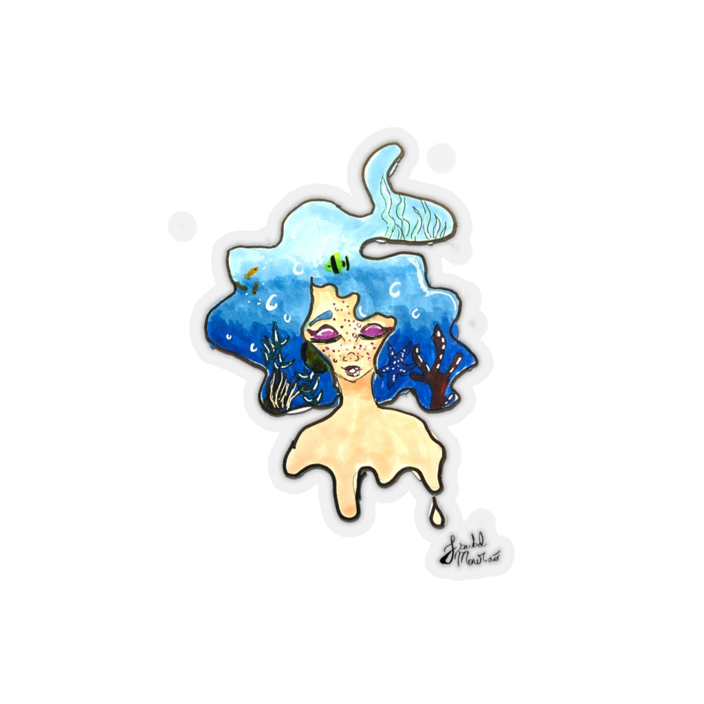 Mermaid Dreaming Kiss-Cut Stickers