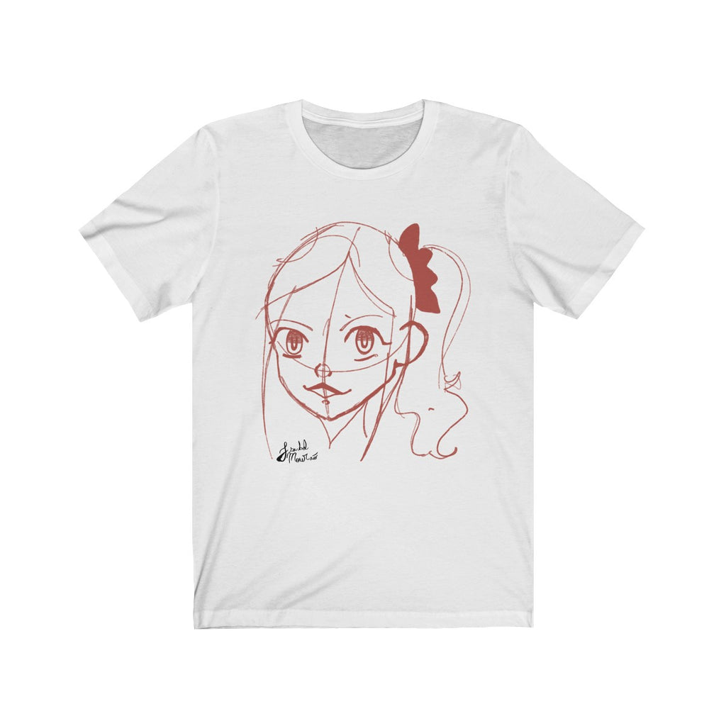 Sketch Girl Unisex Jersey Short Sleeve Tee
