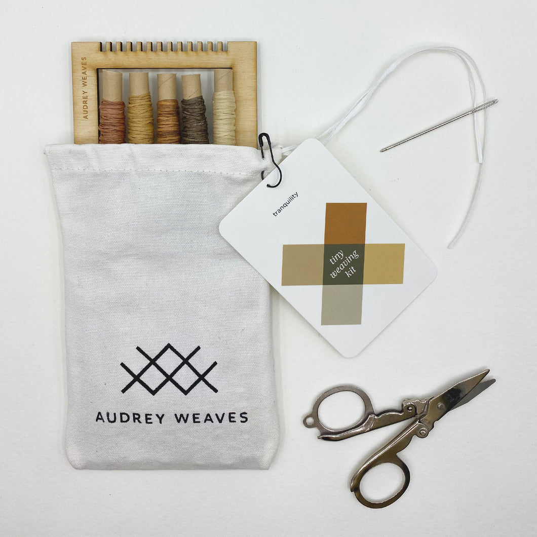 Tiny Weaving Kit: Tranquility