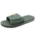 Men Slide Sandals Gray Velcro
