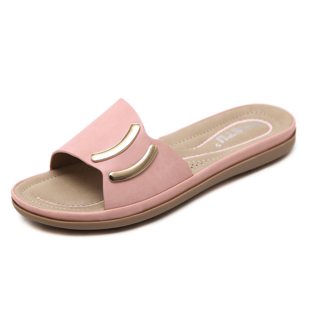 Women Fashion Flat Slide Sandals