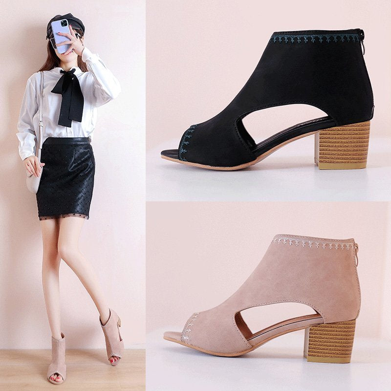 Women High Heel Sandals Cover Heel