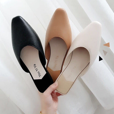 Women Pumps Slippers Low Heel Mules