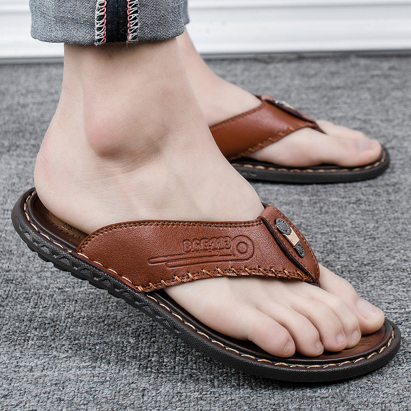 2021 Men Beach Flip Flops Non-Slip Fashion