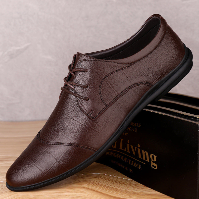 Men Casual Shoes Genuine Leather Dress Shoes