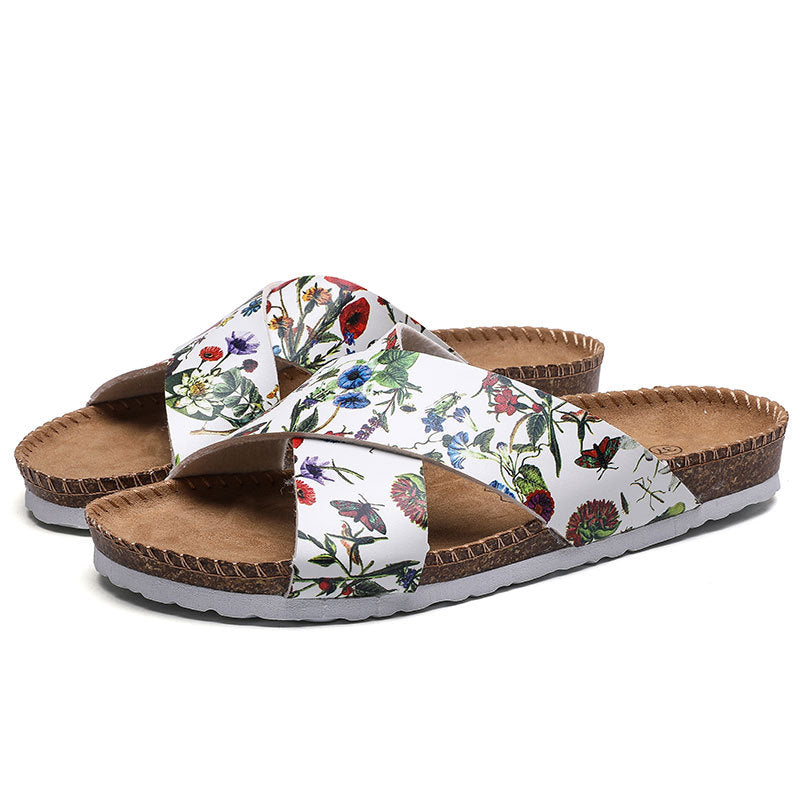 Women 2021 New Arrival Cork Slide Fashion Sandals