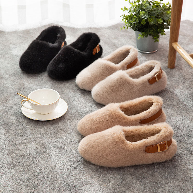 Women House Shoes Fashion Slippers Closed Toe