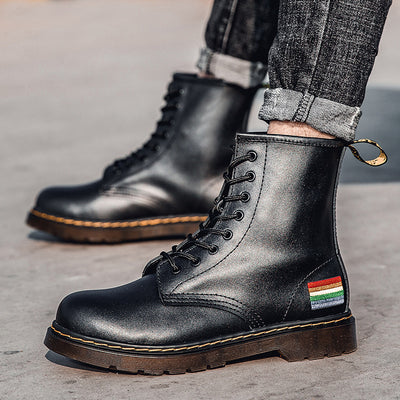 2020 Men Cow Leather Boots Women Fashion Shoes